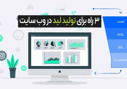 تولید لید در وب سایت