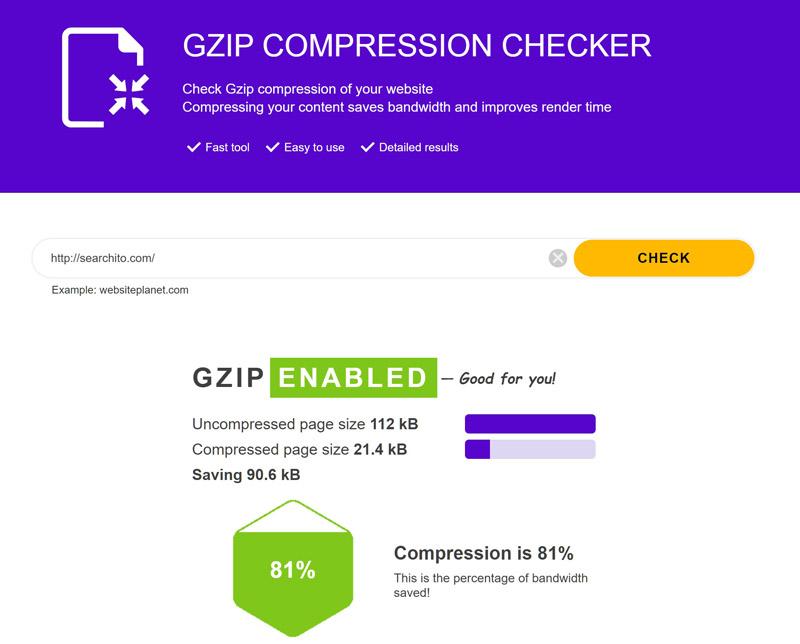 ابزار تست Gzip